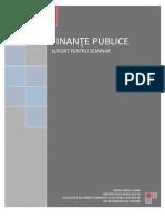 FINANŢE PUBLICE SUPORT SEMINAR