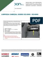 Limpieza Cabezal Godex Ez-2000 Ez-6000