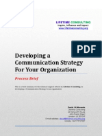 Communications Strategy Brief Lifetime Consulting