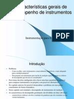 Características gerais de desempenho de instrumentos