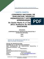 2 Congreso de Evaluacion Coe Santa Marta