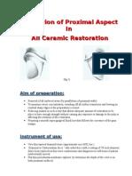 All Ceramic Restoration (Proximal Aspect)