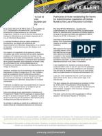 Tax Alert nov 2011. Providencia relativa a la Liquidación de los sujetos regulados por la Ley de Actividad Aseguradora