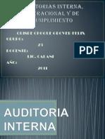 Auditorias Interna, Operacional y de Cumplimiento