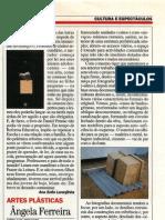 Ângela Ferreira.  Sites and Services. Visao, 13 Mario, 1993