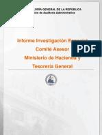 INFORME INVESTIGACIÓN ESPECIAL 30-11 COMITÉ ASESOR MINISTERIO DE HACIENDA Y TESORERÍA GENERAL SOBRE FONDO NACIONAL DE RECONSTRUCCIÓN-AGOSTO 2011