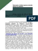 Comisso de Educao e Cultura Aprova Emenda Propondo Mudana Na LDO2012