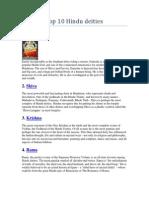 Top 10 Hindu Deities
