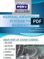 General Awareness in Steam Turbine Manufacturing