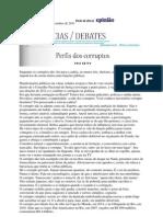 Perfis Dos Corruptos Por Frei Betto