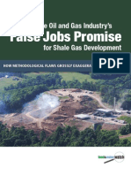 Exposing the Oil and Gas Industry's False Jobs Promise for Shale Gas Development