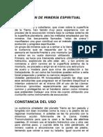 LECCIÓN DE MINERÍA ESPIRITUAL