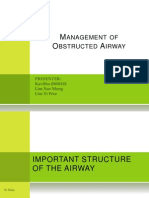Management of Obstructed Airway