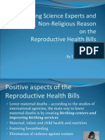 Science Experts and Nonreligious Reason on the RH Bills-Oct 2011