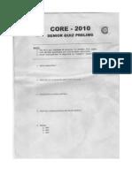 C.O.R.E 2010 Senior Quiz Prelims