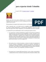 Guía básica para exportar desde Colombia