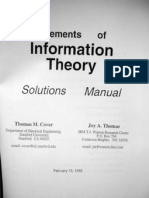Solution Manual of Elements of Information Theory