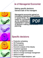 Role of Managerial Economist