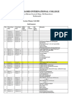 Lecture Planner Fall 2068-69 - Final