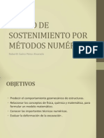 DISEÑO DEL SOSTENIMIENTO POR MÉTODOS NUMÉRICOS