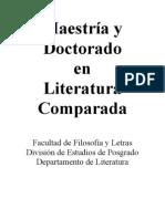 Maestria en Literatura Comparada