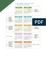 Program Calendar Round One Innovation Fund