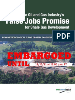 Food & Water Watch Report on Shale Gas Job Claims