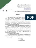 School of Studies in Neuroscience Profile 08