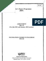 IGNOU FEG-02 (2011) Assignment