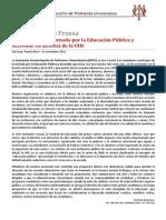 Comunicado de Prensa APPU-UHS 15 Nov2011 Defensa UHS