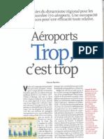 Aéroports trop c'est trop 2009 (Enjeux Les échos)