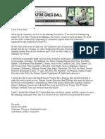 Thank you letter for Veterans Dinner