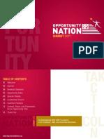 Opportunity Nation Summit Program