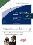 LOPA Implementation