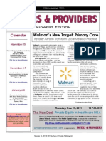 Payers & Providers Midwest Edition – Issue of November 15, 2011