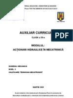 Actionari Hidraulice in Mecatronica