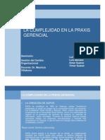 Complejidad y Praxis Gerencial