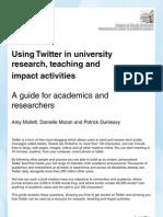 Twitter Guide Sept 2011