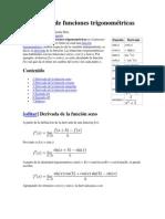 Derivación de funciones trigonométricas y mas