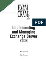 Imp & Mang EX-Change Server 2k3