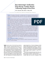 Radio Ulnar Synostosis After Distal Biceps Tendon Repair - Results Following Surgical Resection