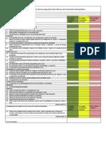 Tabla de valoración de las propuestas de Centros de Formación Humanística