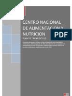 PLAN DE TRABAJO AÑO 2010 DEL CENTRO NACIONAL DE ALIMENTACIÓN Y NUTRICIÓN