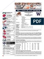 OSU vs Washington Game Notes