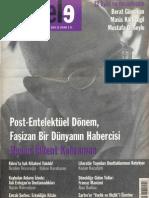 Varlıktan Varlığa Kaçış Varlık ve Hiçlik, Ahmet Bozkurt, Mesele Eylül 2009, sayı 33