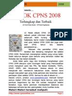 Soal dan Lowongan CPNS 2008