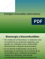 Energías renovables alternativas