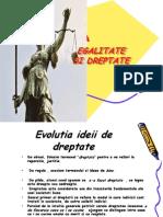 Egalitate Si Dreptate, Proiect Filozofie