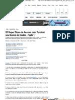 20 Super Dicas de Access Para Turbinar Seu Banco de Dados - Parte 1