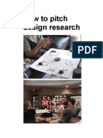 How to pitch design research